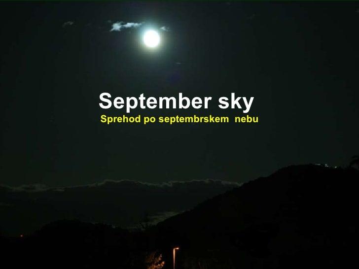 Sptember sky