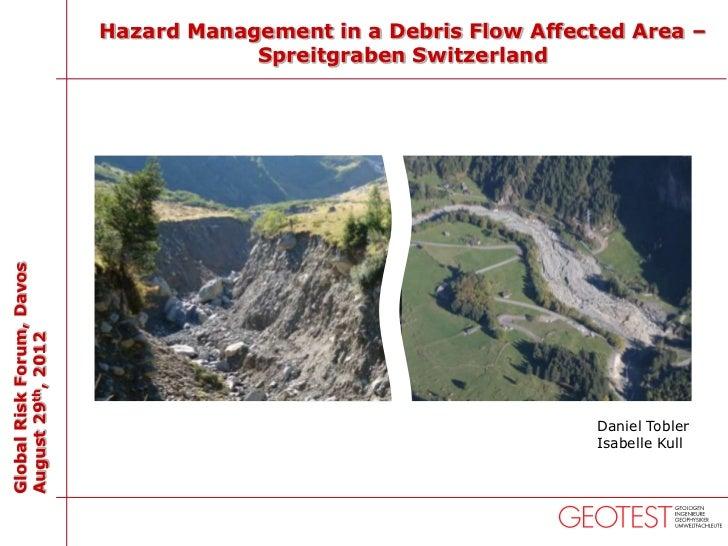 Hazard management in a debris flow affected area – Spreitgraben, Switzerland