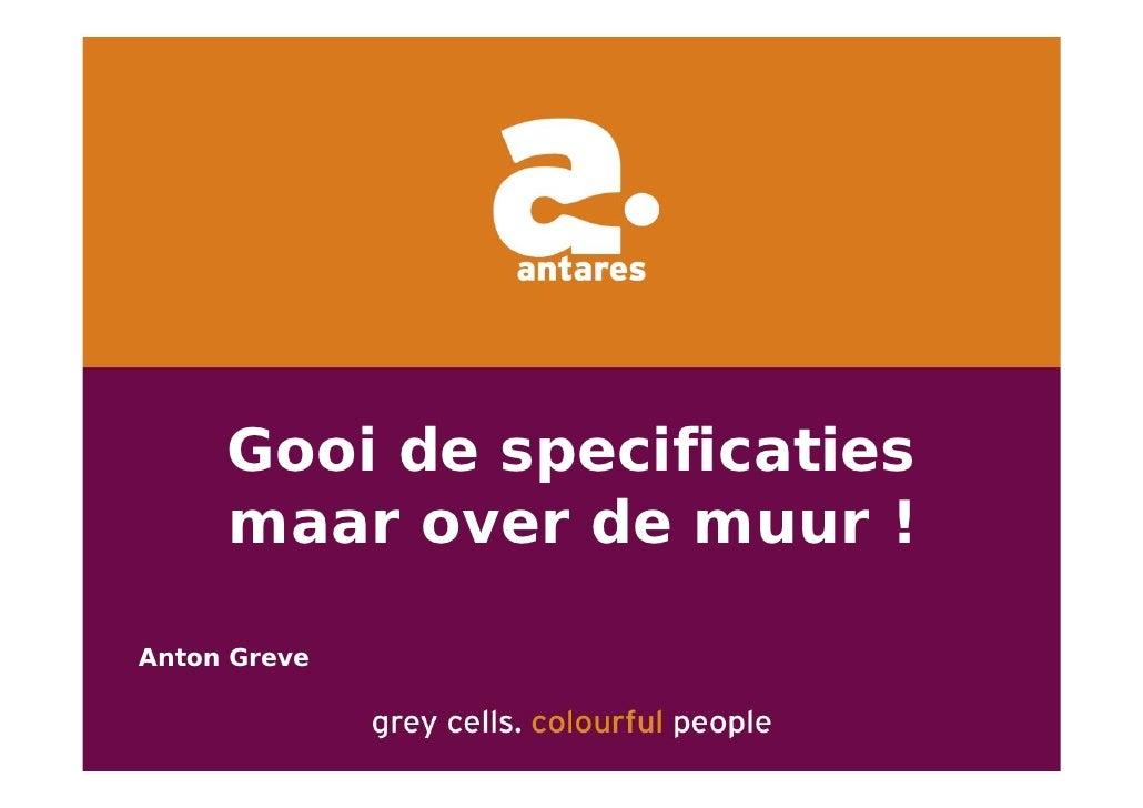 Anton Greve (Antares), Regie van Sourcing