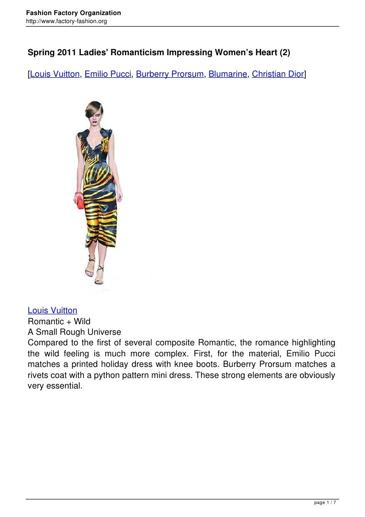 Fashion Factory Organizationhttp://www.factory-fashion.orgSpring 2011 Ladies Romanticism Impressing Women's Heart (2)[Loui...
