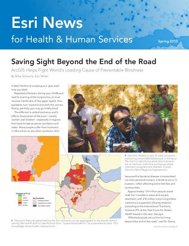 Esri News for Health & Human Services Spring 2013 newsletter