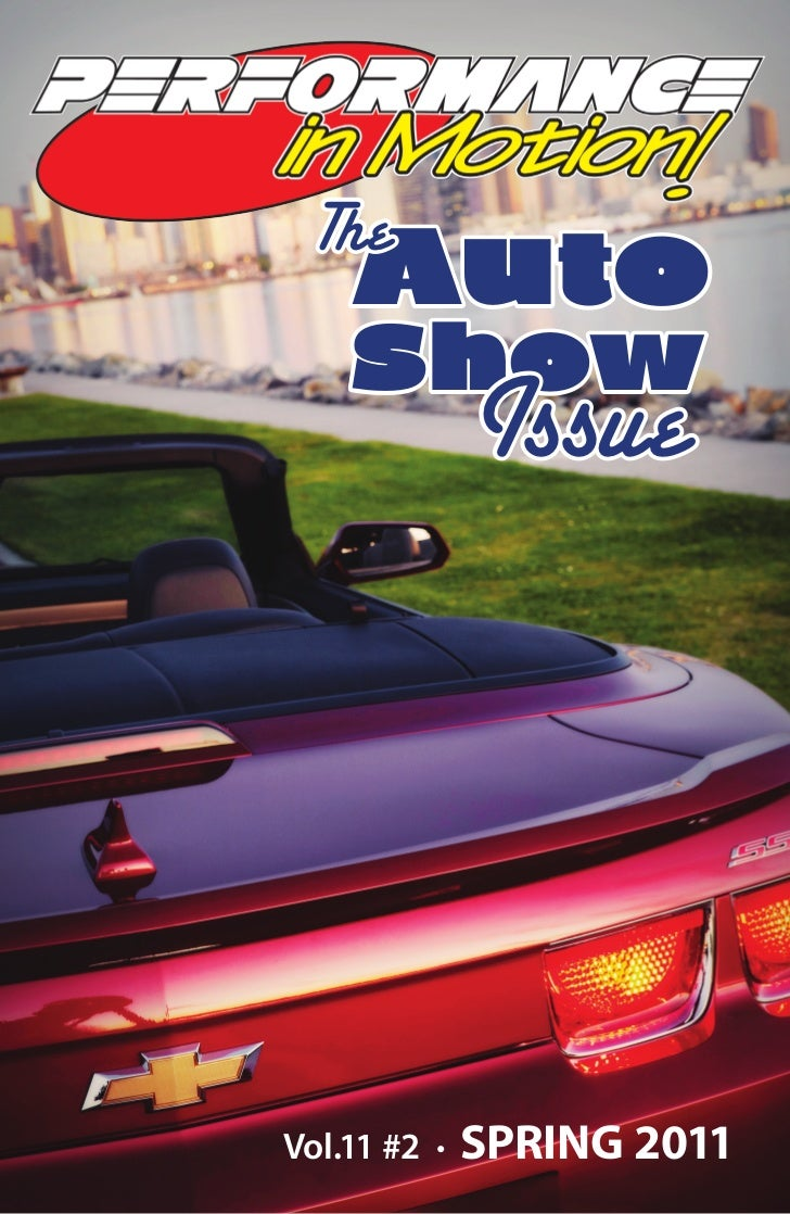 """Spring 2011 - """"Auto Show Issue"""" - Performance in Motion magazine"""