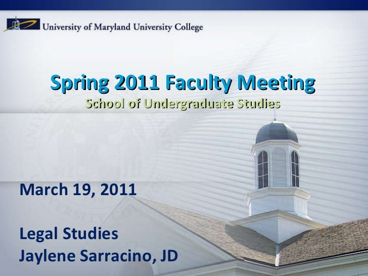Spring 2011 faculty meeting LGST