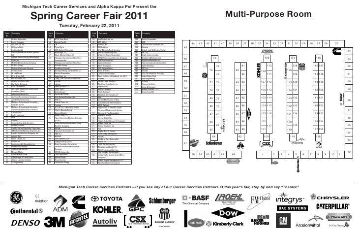 Michigan Tech Career Services and Alpha Kappa Psi Present the                                 Spring Career Fair 2011     ...