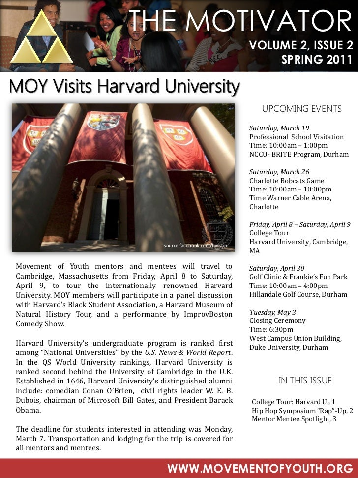 Movement of Youth Spring 2011 Newsletter