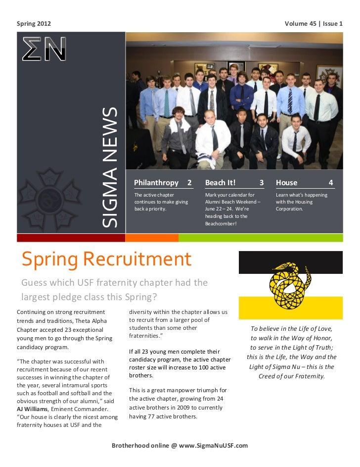Spring 2012 Alumni Newsletter
