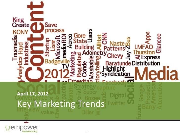 April 17, 2012Key Marketing Trends                 1