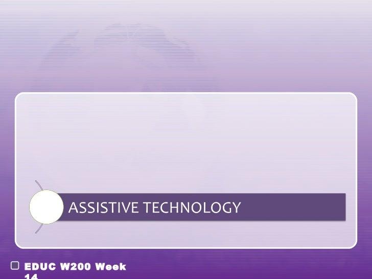 EDUC W200 Week