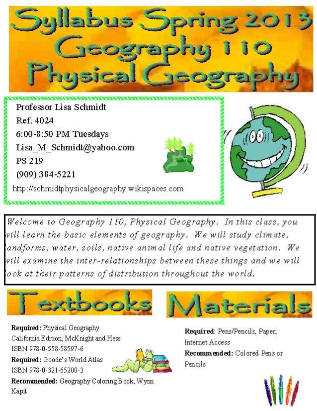 Spring 2013 syllabus geog 110