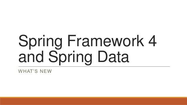Spring 4 en spring data