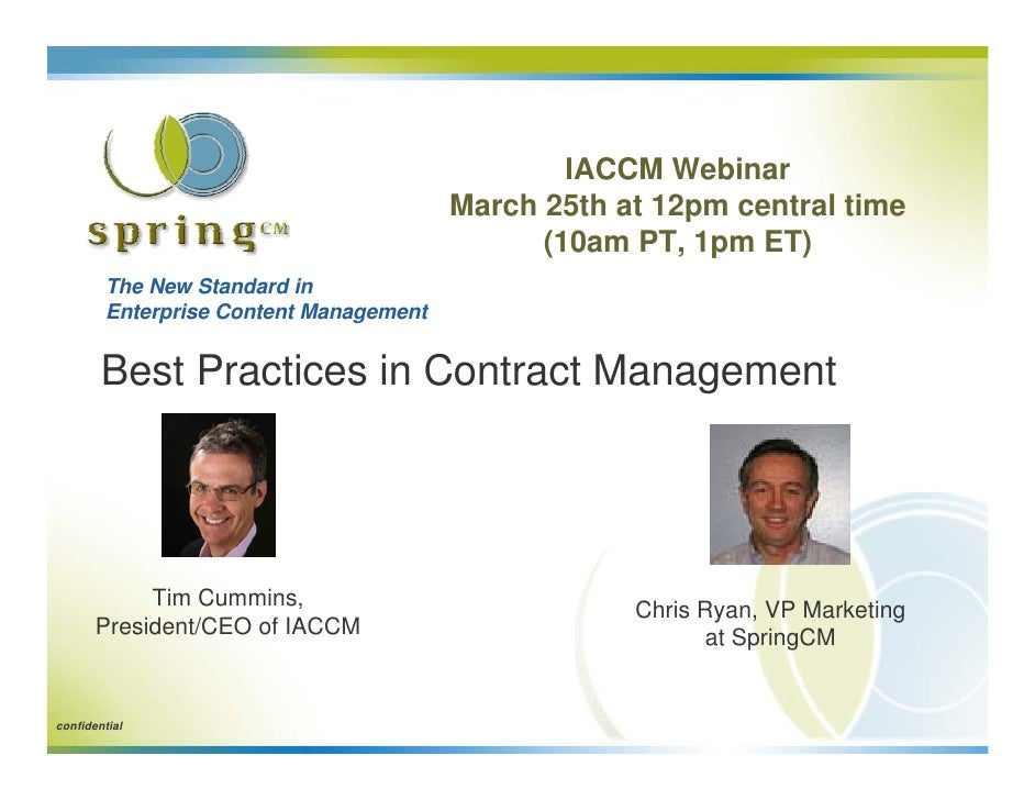 IACCM Webinar                                         March 25th at 12pm central time                                     ...