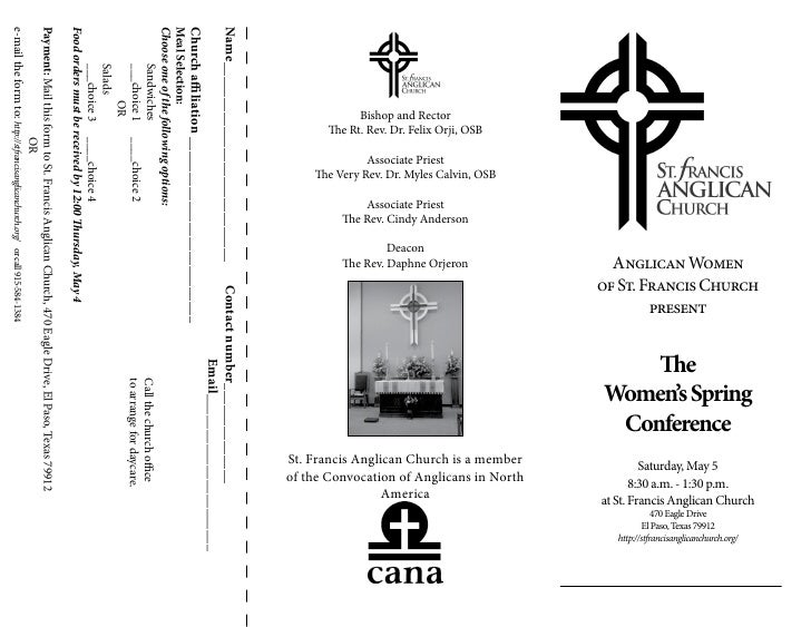 The Women's Spring Conference - registration brochure