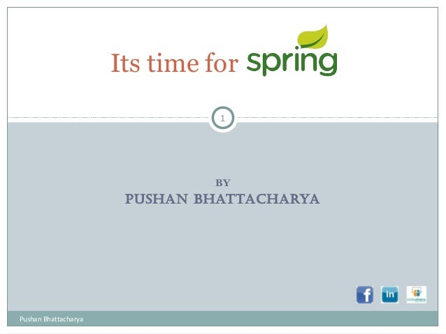 BY PUSHAN BHATTACHARYA Its time for 1 Pushan Bhattacharya