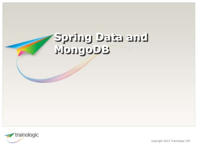 Building Spring Data with MongoDB