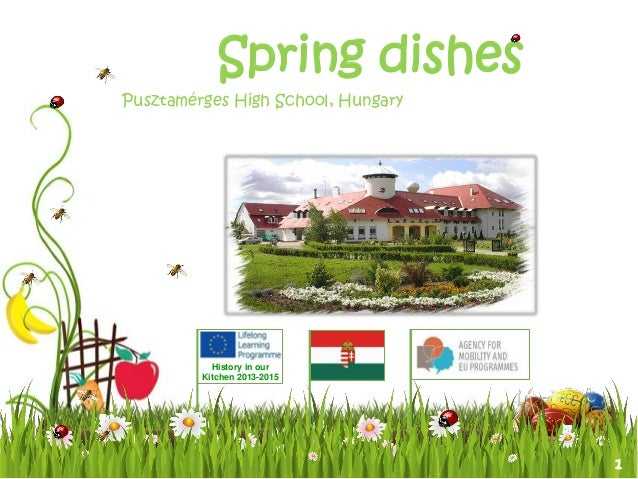 1 History in our Kitchen 2013-2015 Spring dishes Pusztamérges High School, Hungary