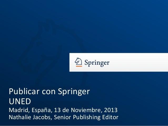 Publicar con Springer