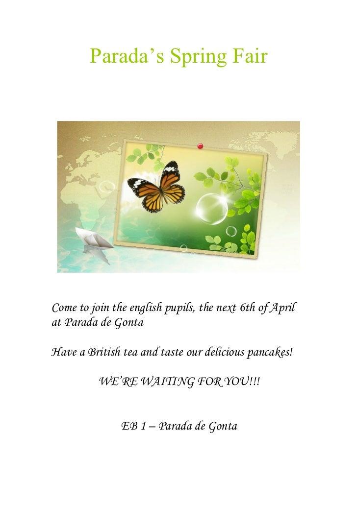 Spring fair - AEC/EI