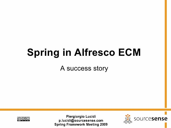 Spring In Alfresco Ecm