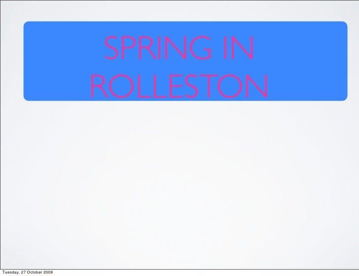Spring In Rolleston