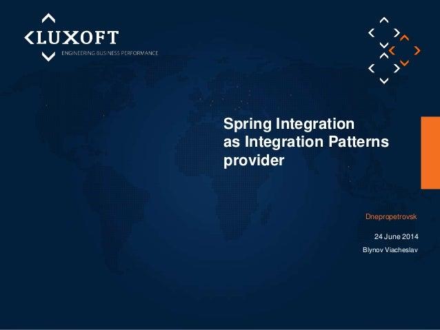 «Spring Integration as Integration Patterns Provider»