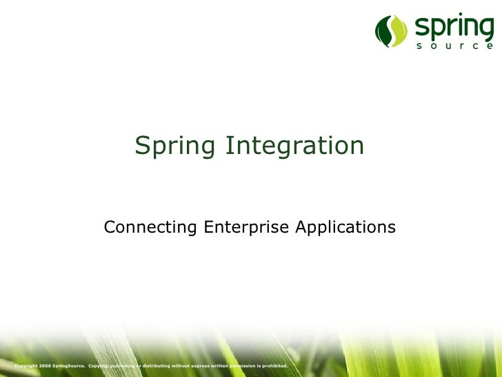 Spring Integration and EIP Introduction