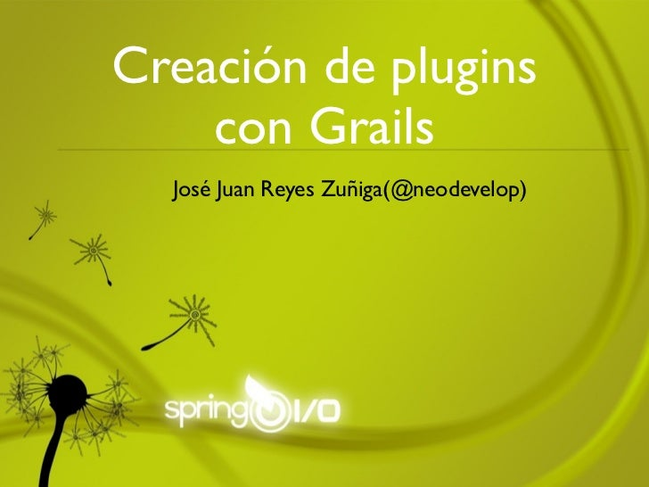 Creación de plugins con Grails