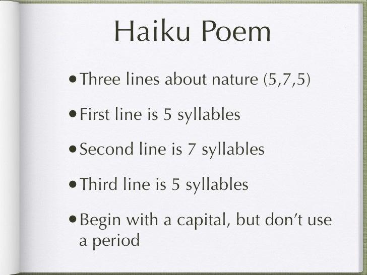 Haiku Poem Three Lines About