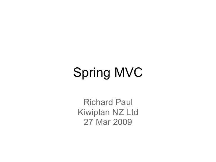 Introduction to Spring MVC