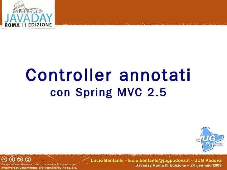 Annotated controllers with Spring MVC 2.5
