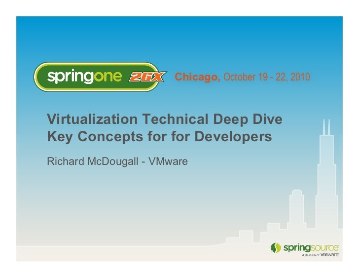 Chicago, October 19 - 22, 2010Virtualization Technical Deep DiveKey Concepts for for DevelopersRichard McDougall - VMware