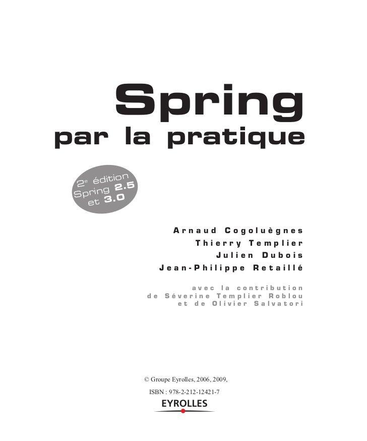 Spring par la pratique  chap-7 - mvc