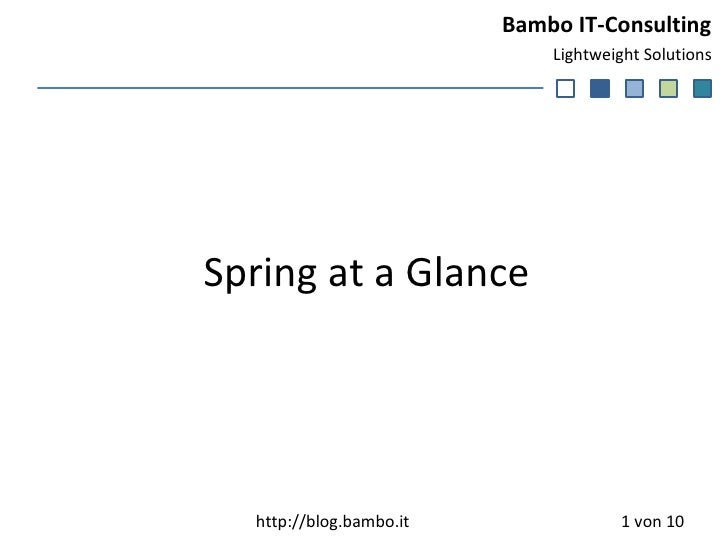 Spring at a Glance  von 10 http://blog.bambo.it
