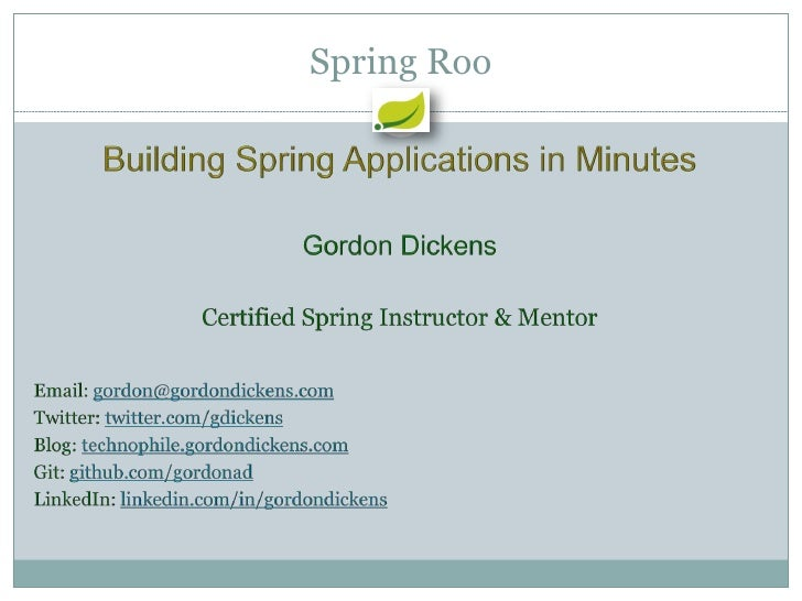 Building Spring Apps in Minutes
