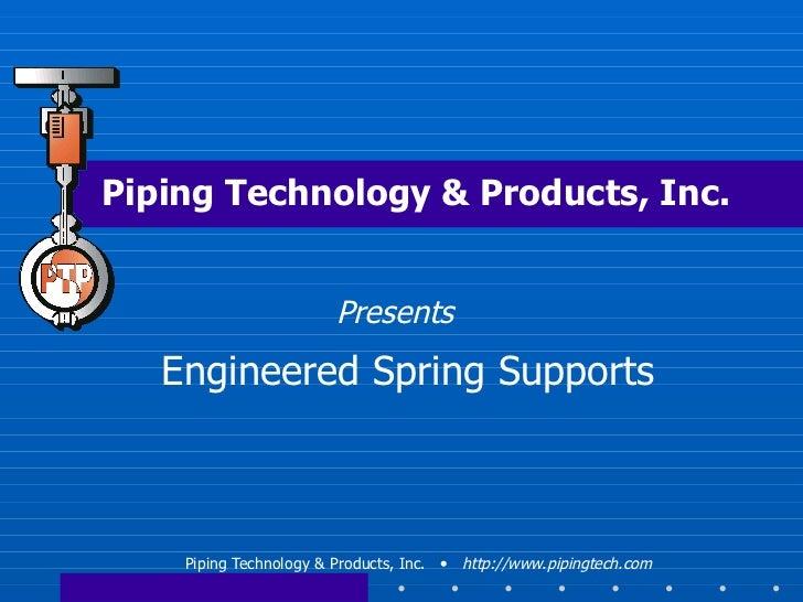 Engineered Spring Supports Webinar - September