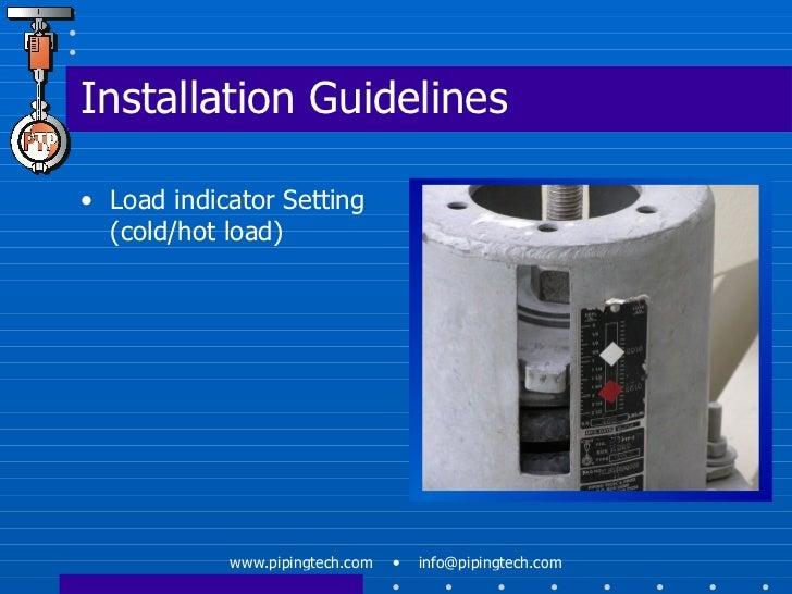 Load Indicator Pipe Hanger : Engineered spring support webinar january