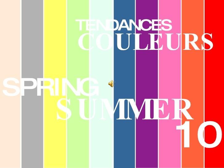 Spring Summer2010 Color Trends