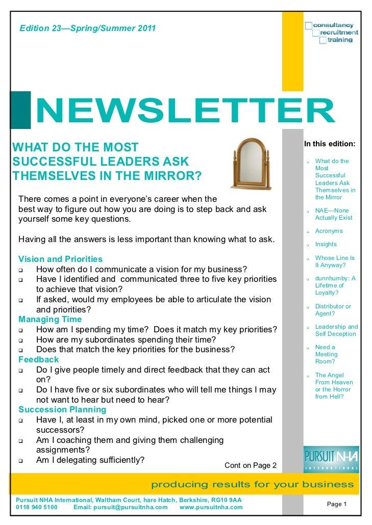 Edition 23—Spring/Summer 2011     NEWSLETTER                                                                              ...