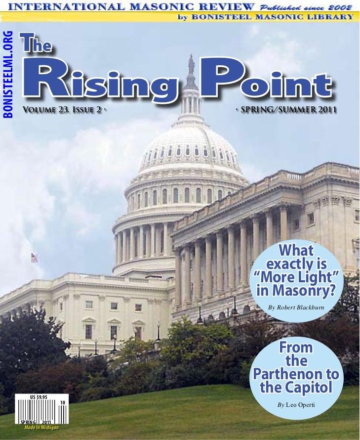 TheBONISTEELML.ORG                  Rising Point                   Volume 23. Issue 2 •     • SPRING/SUMMER 2011          ...