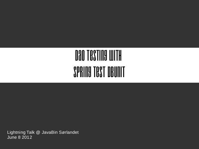 Spring Test DBUnit