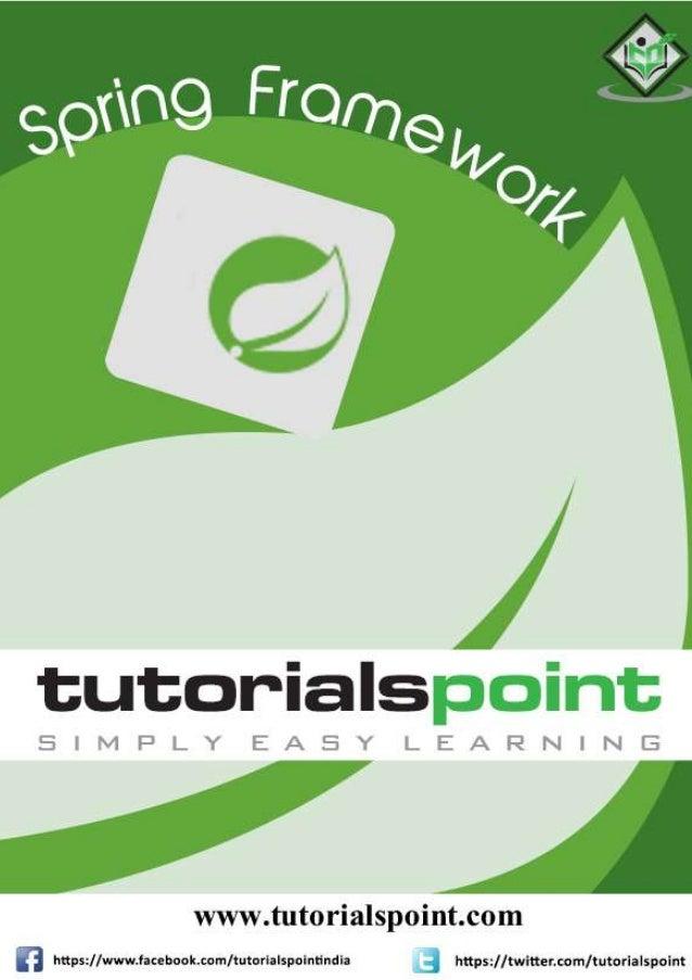 Spring Framework Tutorial Spring Tutorial For Beginners