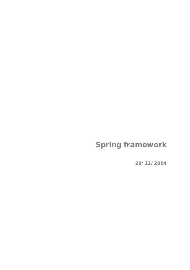 Spring framework29/12/2004
