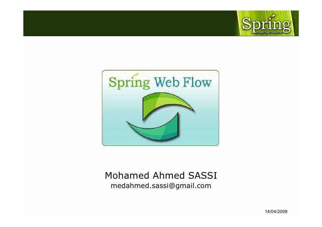 Spring Web Flow - TeeJUG 2008