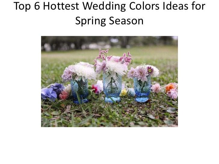 Spring Wedding Favor-6 Hottest Wdding Colors for Spring