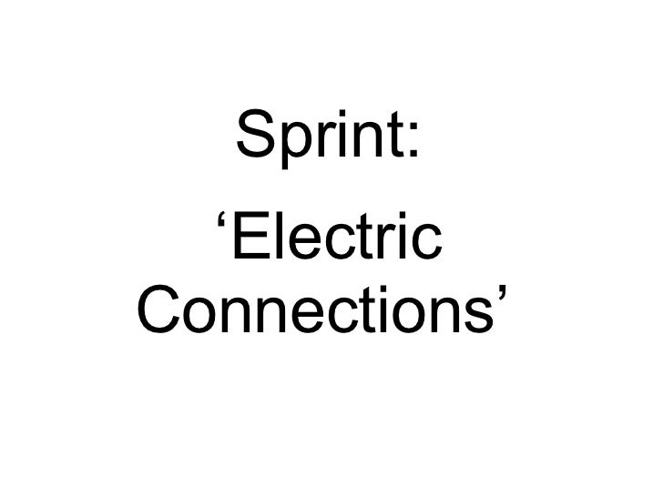 Sprint: ' Electric Connections'