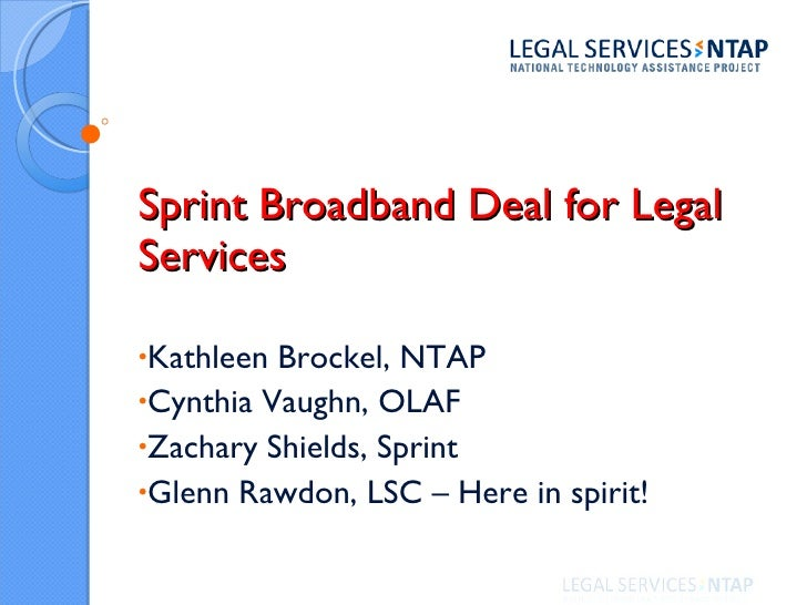 Sprint Broadband for Legal Services (2010)