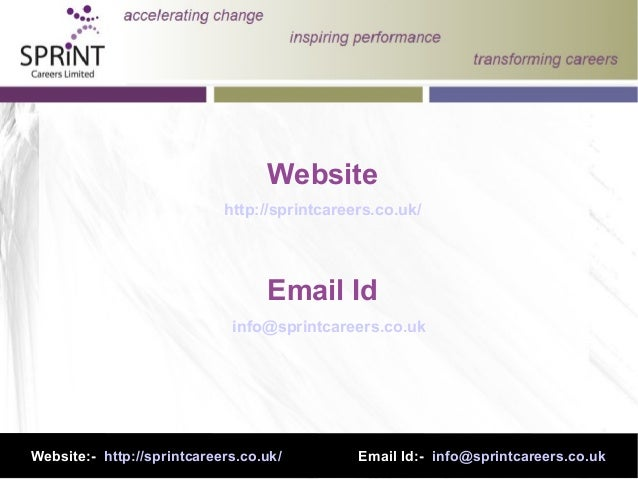 Website http://sprintcareers.co.uk/ Email Id info@sprintcareers.co.uk Website:- http://sprintcareers.co.uk/ Email Id:- inf...