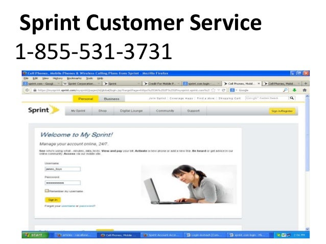 Sprint Customer Service 1 855 531 3731