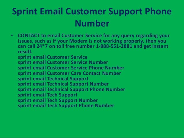 Sprint email customer support phonenumber contact to email customer