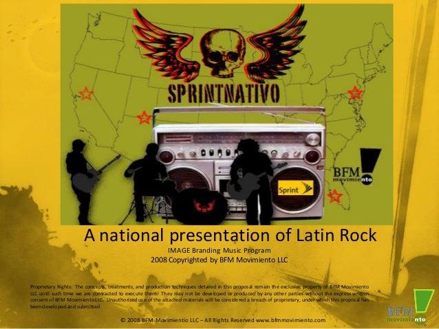 A national presentation of Latin Rock                                                         IMAGE Branding Music Program...