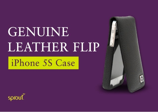 Sprout Flux iPhone5/5S leather case